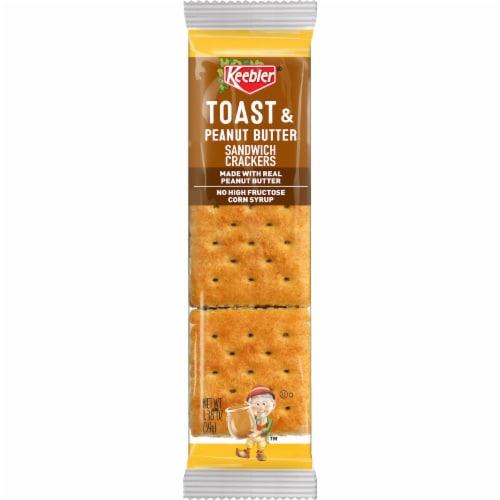 Keebler Toast & Peanut Butter Sandwich Crackers Perspective: front