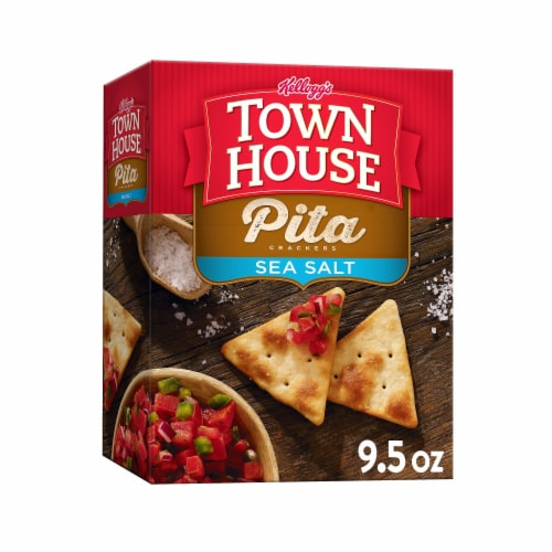 Kellogg's Town House Baked Sea Salt Pita Crackers Perspective: front