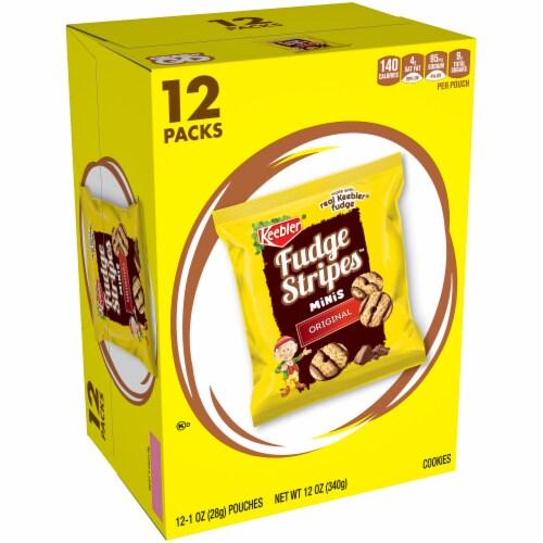 Keebler Fudge Stripes Original Mini Cookies 12 Count Perspective: front