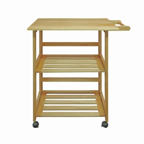 Casual Home 372-30 Trek Folding Kitchen Cart - Natural Perspective: front