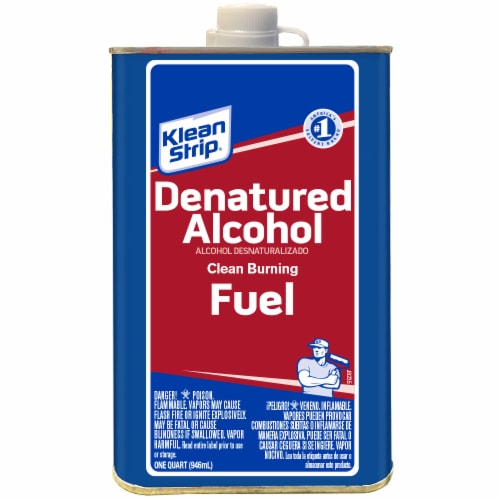 Klean-Strip® Denatured Alcohol Clean Burning Fuel Perspective: front