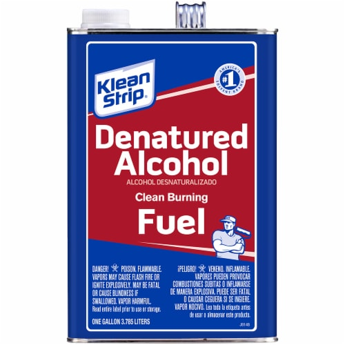 Klean-Strip® Denatured Alcohol Clean Burning Fuel Perspective: front