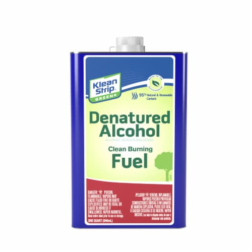 Klean-Strip® Denatured Alcohol Green Burning Fuel Perspective: front