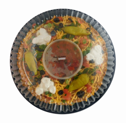Bean Dip Platter with Salsa Perspective: front