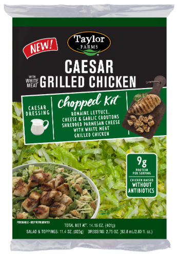 Taylor Farms Caesar with Grilled Chicken Chopped Salad Kit Perspective: front