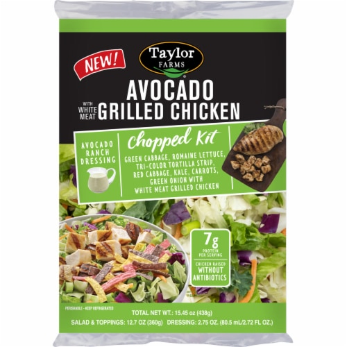 Taylor Farms Avocado w Grilled Chicken Chopped Salad Kit Perspective: front