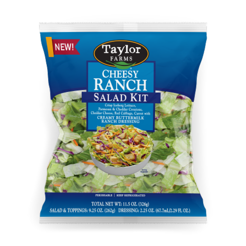 Taylor Farms® Cheesy Ranch Salad Kit Perspective: front