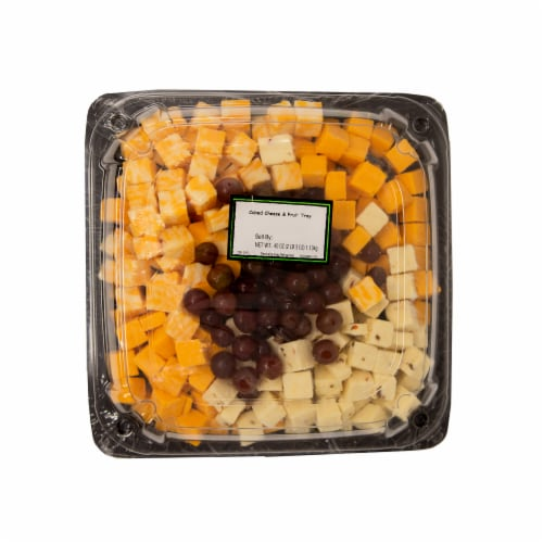 Cubed Cheese and Fruit Tray Perspective: front