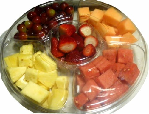 Large Fruit Tray Perspective: front