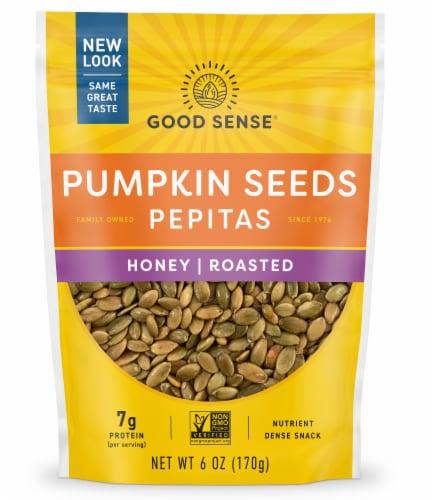 Good Sense Honey Roasted Shelled Pumpkin Seeds (Pepitas) Perspective: front