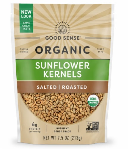 Good Sense Organic Roasted & Salted Sunflower Nuts Perspective: front