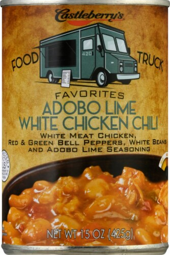 Castleberry's Food Truck Favorites Adobo Lime White Chicken Chili Perspective: front
