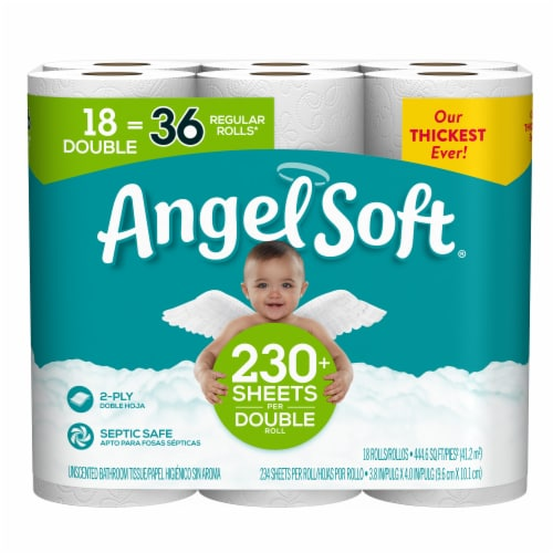 Smith S Food And Drug Angel Soft Double Roll Unscented Bathroom Tissue 18 Rolls