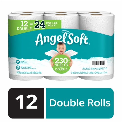 Angel Soft Double Roll Bath Tissue Perspective: front
