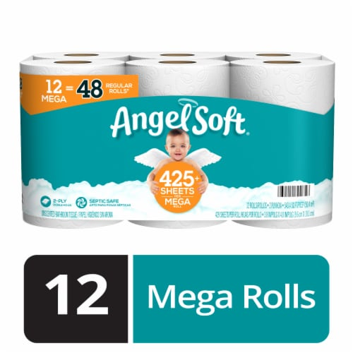 Angel Soft Septic and Sewer Safe Bath Tissue Perspective: front