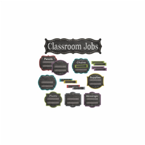 Chalk It Up! Classroom Jobs Mini Bulletin Board Set Perspective: front
