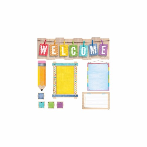 Creative Teaching Press CTP7054 Welcome Bulletin Board Set Upcycle Style Perspective: front
