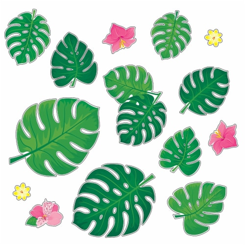 Palm Paradise Monstera Leaves Bulletin Board Set Perspective: front