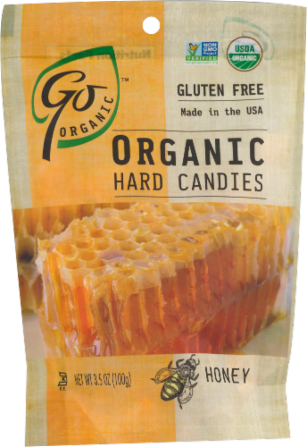 Go Naturally Organic Honey Hard Candies Perspective: front