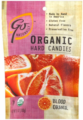 Go Naturally Organic Blood Orange Candies Perspective: front