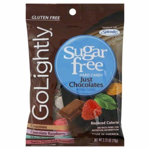Go Lightly Sugar Free Just Chocolates Perspective: front