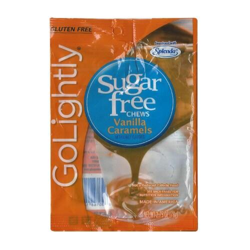 Go Lightly Sugar Free Vanilla Carmel Creamer Perspective: front