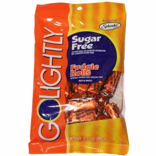 Go Lightly Sugar Free Fudge Rolls Perspective: front