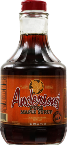 Andersons Pure Maple Syrup Perspective: front
