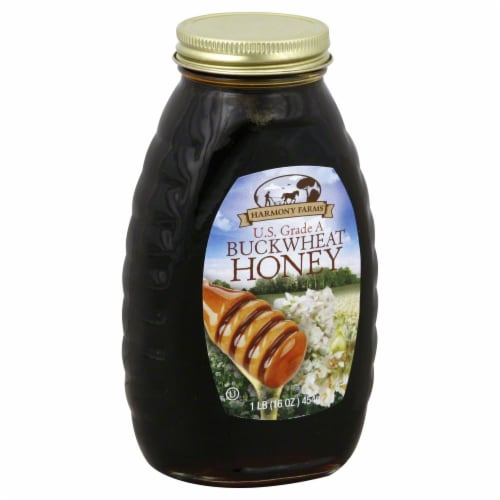 Harmony Farms Buckwheat Honey Perspective: front