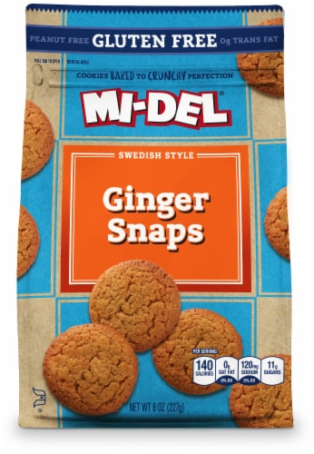 Mi-Del Gluten-Free Ginger Snaps Perspective: front