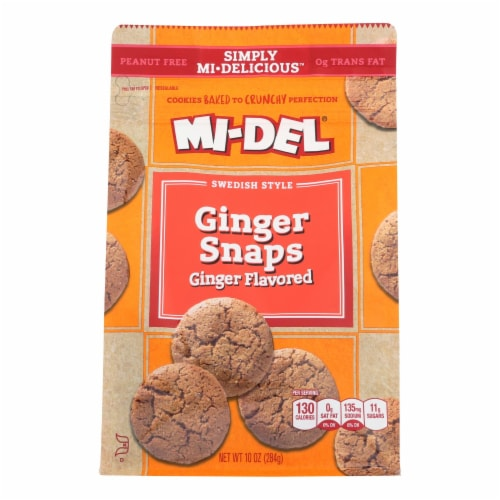 Mi-Del Swedish Style Ginger Snaps Cookies Perspective: front