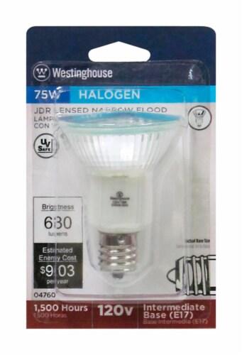 Westinghouse 75 watt JDR Floodlight Halogen Bulb 630 lumens White 1 pk - Case Of: 1; Each Perspective: front