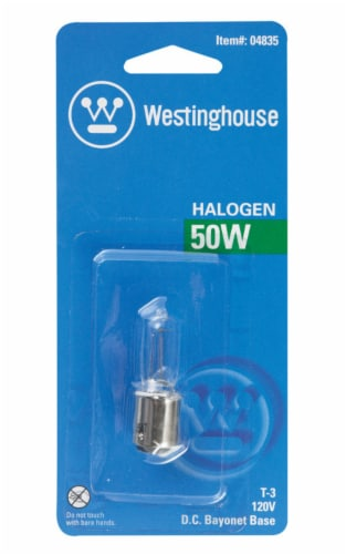 Westinghouse 50 watt T3 Specialty Halogen Bulb 600 lumens 1 pk - Case Of: 1; Each Pack Qty: Perspective: front
