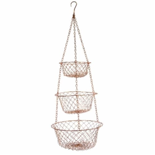 Fox Run 5211 Copper Hanging Baskets Perspective: front