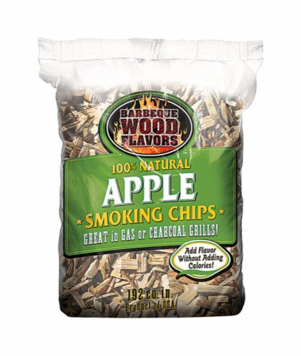 Barbeque Wood Flavors Apple Wood Smoking Chips 192 cu. in. - Case Of: 12; Perspective: front