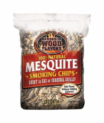 Barbeque Wood Flavors Mesquite Wood Smoking Chips 192 cu. in. Perspective: front