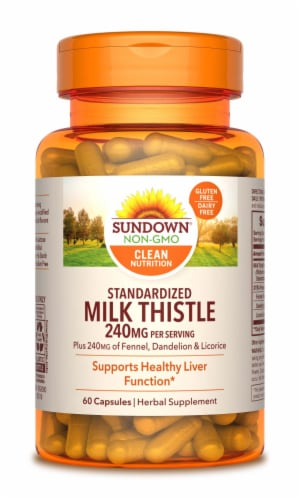 Sundown Naturals Milk Thistle Capsules 240mg Perspective: front