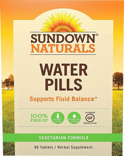 Sundown Naturals  Water Pills Caffeine Free Perspective: front
