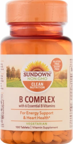 Sundown Naturals B Complex Energy Support Tablets Perspective: front