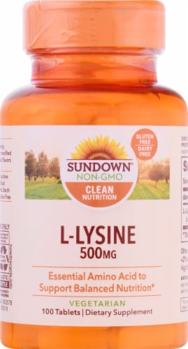 Sundown Naturals L-Lysine 500 mg Tablets Perspective: front
