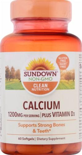 Sundown Naturals Calcium Plus Vitamin D3 Softgels Perspective: front