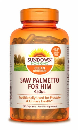 Sundown Naturals Whole Herb Saw Palmetto Capsules 450mg Perspective: front