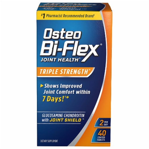 Osteo Bi-Flex Triple Strength Joint Health Coated Tablets 40 Count Perspective: front