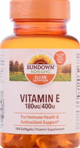 Sundown Naturals Vitamin E 400 IU Softgels Perspective: front