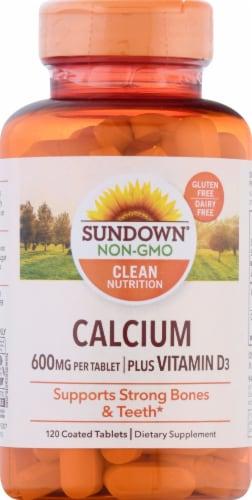 Sundown Naturals  Calcium plus Vitamin D3Tablets 600mg Perspective: front
