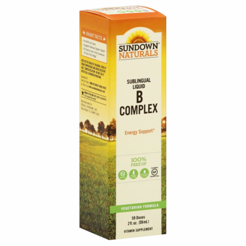 Sundown Naturals B-Complex Sublingual Liquid Perspective: front