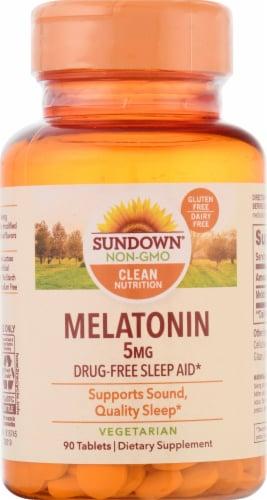 Sundown Naturals Melatonin Tablets 5 mg Perspective: front