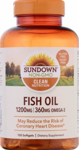 Sundown Naturals  Extra Strength Fish Oil Softgels 1200mg Perspective: front