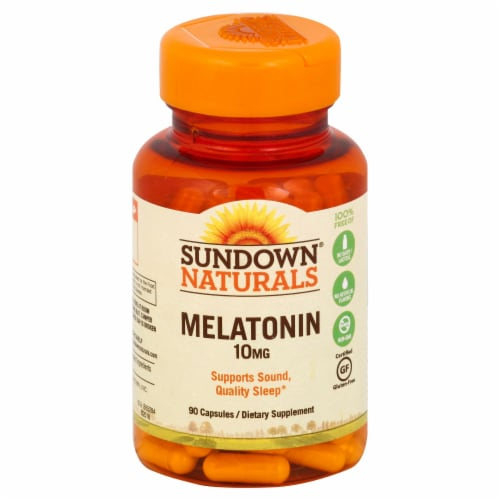Sundown Naturals Melatonin 10 mg Capsules Perspective: front