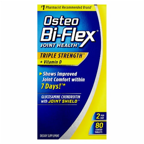 Osteo Bi-Flex Triple Strength + Vitamin D Joint Health Coated Tablets Perspective: front